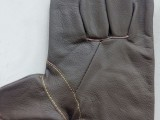 头层牛皮帆布手套 深色窄袖防护手套 电焊手套 劳保手套