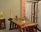 武威实木家具办公桌茶桌椅子老船木客厅家具沙发茶几茶台餐桌案台