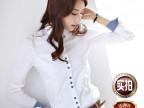 樵JIAO秋冬季新款 女士韩版衬衫OL通勤修身女式长袖衬衫厂家直销