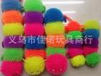 闪光蚂蚁毛毛球  闪光大号软胶毛球  小额混批地摊发光玩具球