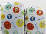 卡通拉杆箱pc行李箱小动物拼色可爱登机箱白色旅行箱耐磨托运箱