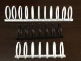 定制七孔/十一孔圆形塑料/塑胶装订孔夹厂家