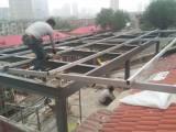 大兴区承接家庭钢结构阁楼露台封顶彩钢房楼梯制作