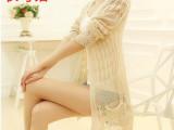 2014韩版女装新款秋装中长款毛衣防晒空调开衫李娜莱可文信服饰
