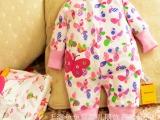 2015春款0-1岁婴儿服初生婴儿春季 纯棉哈衣连身衣爬服长袖女