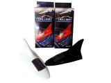供应汽车太阳能天线 8LED灯爆闪鲨鱼鳍装饰顶翼