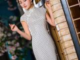旗袍裙改良时尚修身休闲女夏装日常旗袍夏连衣裙蕾丝复古唐装民国