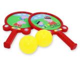 新款双人球拍玩具套装 小猪佩奇运动健身球