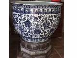 景德镇青花瓷陶瓷大缸 养荷花养鱼陶瓷水缸 定做手绘缸