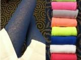 t062代发进口面料半透明夏季荧光色打底裤 纯色纱质防晒九分裤