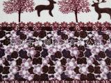 通顺印染 精品法兰绒布料   针织面料  批发供应 数码印花 鹿