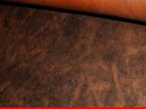意大利头层真牛皮DIY手工皮料深棕色腰带专用进口**三边直皮料
