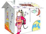 创意立体儿童涂色玩具 房子外形玩具 儿童益智节日礼物 来样定制