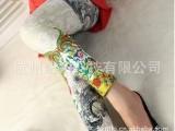 【紫色雪】印花图腾 不对称九分打底裤 九分裤 女裤休闲裤WK-1