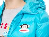 大嘴猴女装秋冬新款女式长款纯色加厚羽绒服paulfrank正品羽