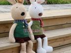 日本同步发售经典毛衣款情侣太子兔/砂糖兔毛绒公仔送女孩子