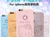 新款苹果5S手机壳iphone6 plus卡通闪粉手机保护套 kt猫保护壳4S