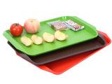 厂家直销托盘长方形塑料盘 欧式防滑自助快餐盘子食堂餐具