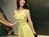 2014春装新款气质夜店性感女装吊带波点连衣裙