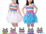 女童装夏装演出服公主裙儿童蓬蓬裙舞蹈裙背心连衣裙