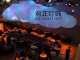 酒店会所云朵吊灯 君正灯饰定制漂浮的白云吊灯 酒店创意灯具