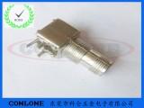 锌合金TNC弯头天线插座 TNC-KWE天线焊板母座