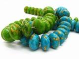 天然绿松石散珠 无添加化学剂 DIY饰品配件批发 免费拿样