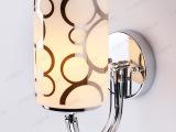 厂家供应照明灯饰欧式创意圆柱玻璃灯罩酒店卧室床头led壁灯批发