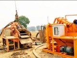 打桩工程泥浆如何处理费用-泥浆河道污水脱干固化分离设备出租