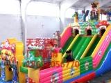 天蕊游乐供应儿童充气城堡组合滑梯钢架蹦极小飞鱼沙滩池