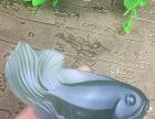 纯天然盐源紫绿玛瑙鱼儿挂件金膏玉原石精品料吊坠