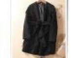 惊爆抢批 高档双面羊毛大衣外套 系带大翻领羊毛大衣女款DY060