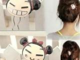 速卖通货源 韩国饰品 韩版超可爱中国娃娃发簪 合金发梳卡通版