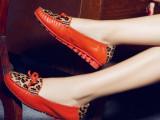 温州女鞋一件待发真皮豹纹马毛豆豆女鞋韩版平底潮鞋单鞋夏季女鞋