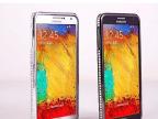 新款Note3 手机保护壳三星N9006  镶钻金属边框土豪金边框带钻