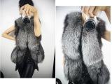 外贸专区 欧美短款设计女性仿真皮草背心外套 加大码