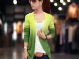 2013女装春秋韩版针织衫开衫渐变色针织开衫外套