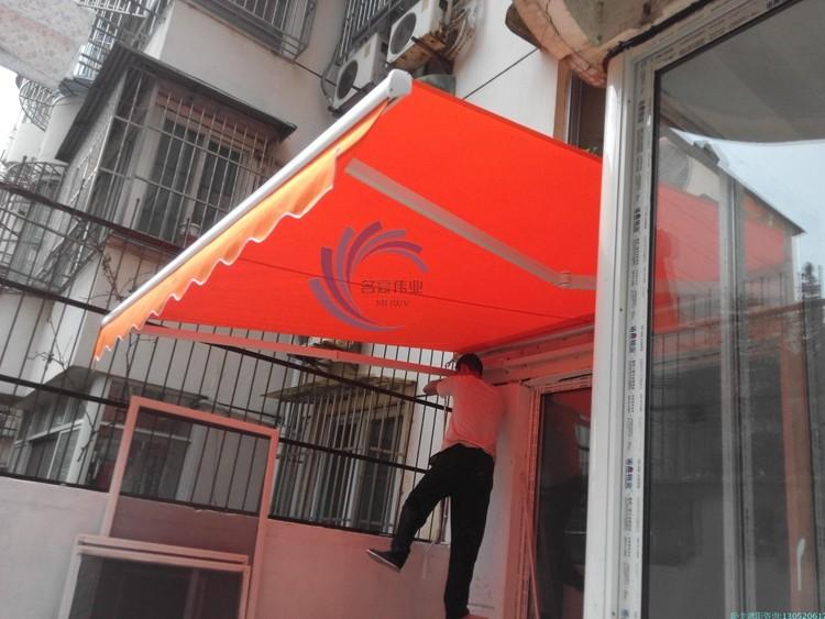 供应曲臂雨棚专用别墅曲臂遮阳篷遮雨棚露台棚