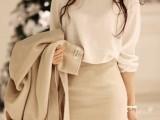 2014春装新款水钻圆领 百领气质长袖雪纺衫 淘宝网免费代理33