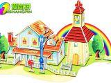 3D立体拼图 儿童益智创意早教玩具 地摊热卖玩具 彩虹屋