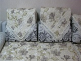 新款 防滑颗粒 欧式贵族 沙发垫 沙发巾 布艺 沙发套水溶边 坐