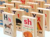 学拼音骨牌 多米诺游戏 婴幼儿早教玩具 儿童玩具 木DX20