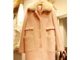韩国代购2014秋冬新款女装韩版毛呢外套女加厚毛领羊毛呢子大衣女
