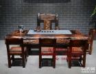 老船木茶桌椅组合仿古功夫泡茶台中式简约茶几 实木室内外泡茶桌