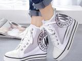 一件代发厂家新款内增高休闲鞋真皮女鞋网纱高帮鞋运动鞋