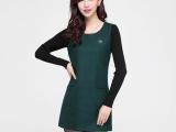 2014秋冬时尚中长韩版女士修身打底衫大码呢子长袖T恤闺蜜女装潮