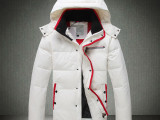 欧美大牌风品牌男装秋冬装潮男式白色羽绒服加厚连帽大码保暖外套