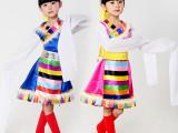 少儿演出服儿童表演服民族蒙族女童舞蹈服藏族幼儿蒙古舞服装批发