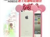 卡通迪士尼三眼仔iphone4s/5s手机边框 苹果5S硅胶框