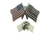 格弗特五金厂定制美国旗子徽章勋章纪念徽章批发